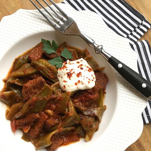 Etli Taze Fasulye ~ geschmortes Rindfleisch mit grünen Bohnen
