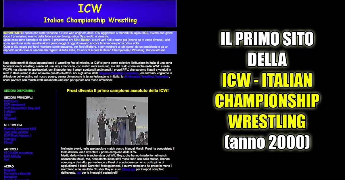 Il primo sito della ICW - Italian Championship Wrestling