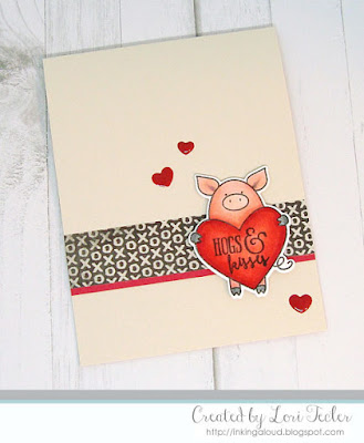 Hogs & Kisses card-designed by Lori Tecler/Inking Aloud-stamps and dies from Avery Elle