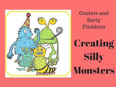 monster drawing lesson for halloween, art subs, or art centers