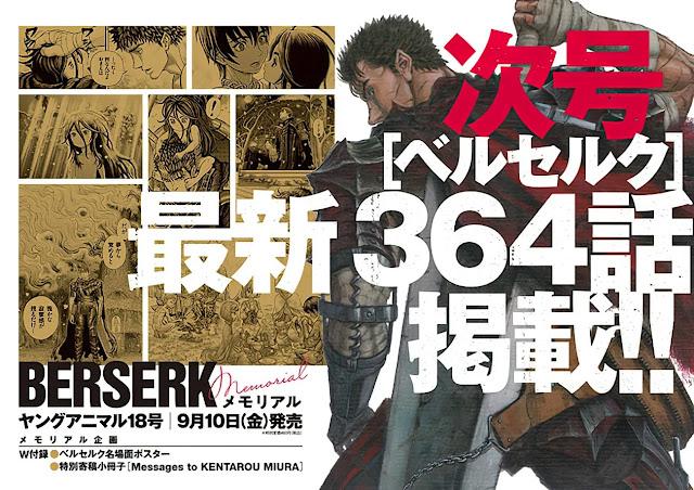 Mangá Berserk revela Visual para o Próximo Capítulo