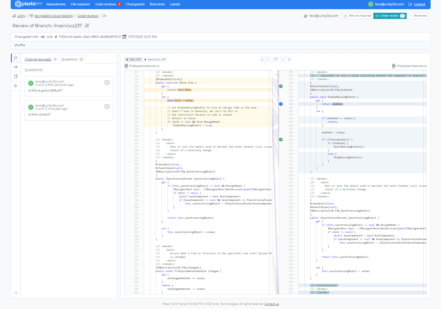 Improved Code review