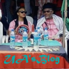 Nnamdi Kanu And His Wife Spotted By Security Operatives Enjoying Suya In Ghana