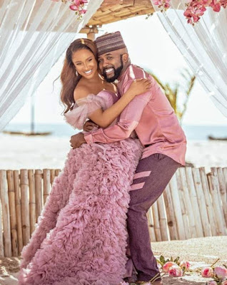 Banky W and wife, Adesua, Welcomes their first child