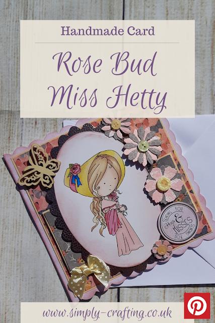 Polkadoodles Rose Bud Miss Hetty Handmade Birthday Card