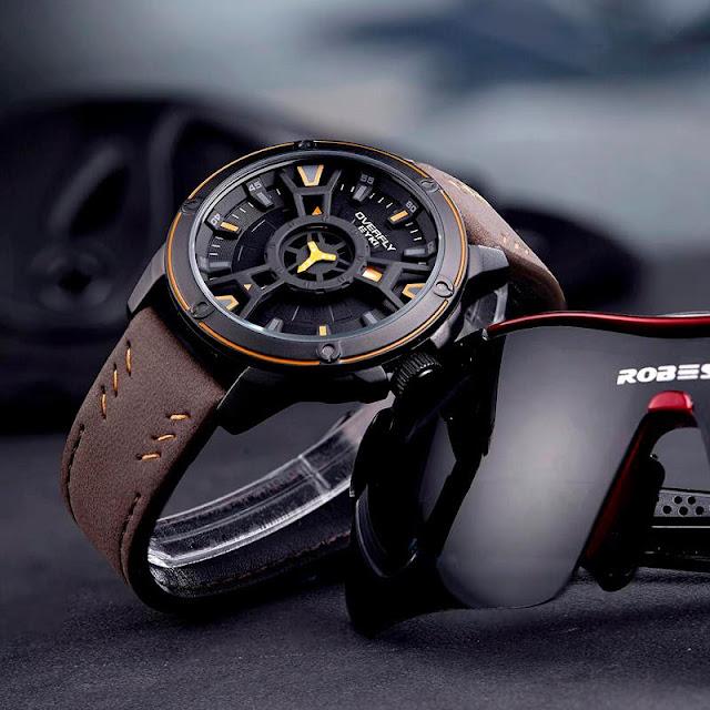 Men's Stainless SteelUltra Slim Luminous Quartz Watch