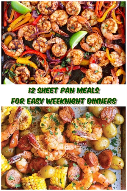 12 #Sheet #Pan #Meals #For #Easy #Weeknight #Dinners #chickenrecipes #recipes #dinnerrecipes #easydinnerrecipes