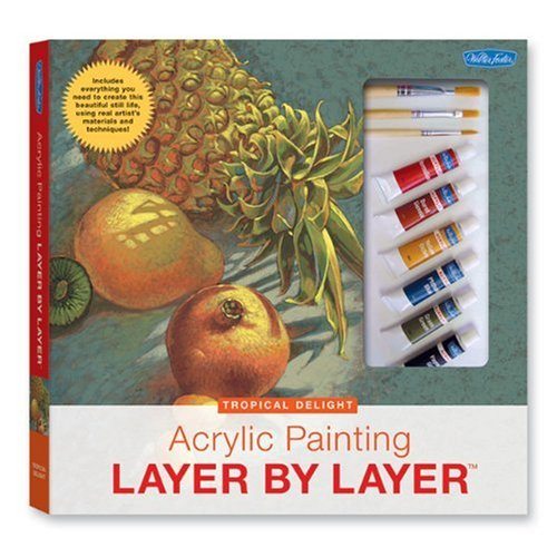 Acrylic Painting Layer by Layer - Tropical Delight Kit by Mia Tavonatti