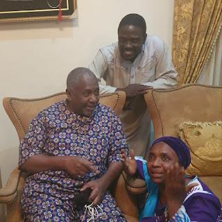 Sambo Dasuki Reunites With His Family After He Regains Freedom (Photo)