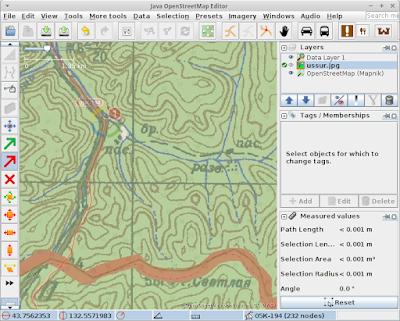 Совмещенная точка на карте, при помощи PicLayer в JOSM (Java OpenStreetMap)