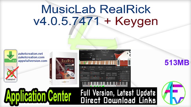 MusicLab RealRick v4.0.5.7471 + Keygen
