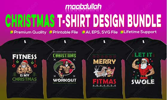 Christmas t shirt design bundle 2020 [ Fully Updated ]