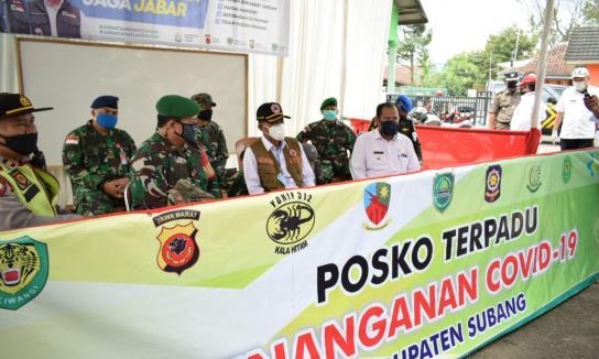 Bupati Subang Road Show PSBB ke Pos Check Point di Perbatasan Wilayah Selatan