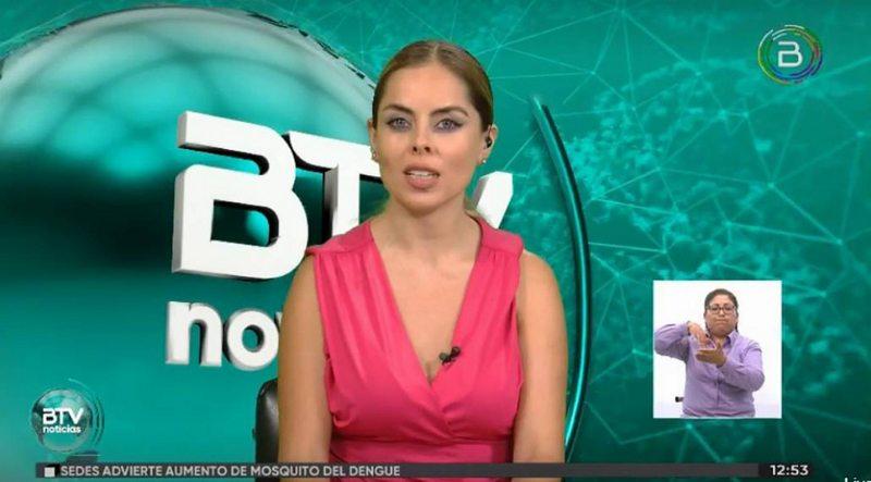 Ex chica del tiempo de Chilevisión ahora lee noticias en Bolivia