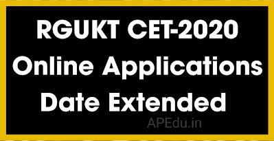 RGUKT CET-2020 Online Applications Date Extended