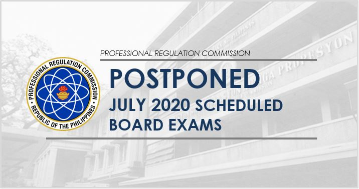 PRC postpones July 2020 scheduled board exams