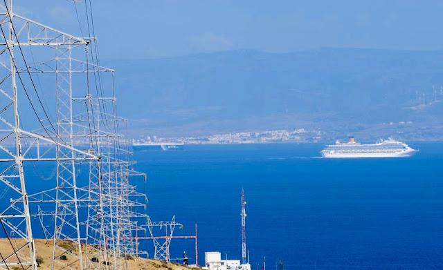"""عاجل...المكتب الوطني للكهرباء و""""إريد إليكتريكا"""" يعلنان عن إتمام أشغال إصلاح الخط الإحتياطي رقم 4 للربط الكهربائي بين المغرب وإسبانيا✍️👇👇👇"""