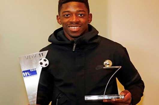 Dembele nhận giải Tân binh xuất sắc nhất năm
