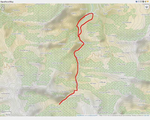 Ruta del Alba: Mapa de la ruta