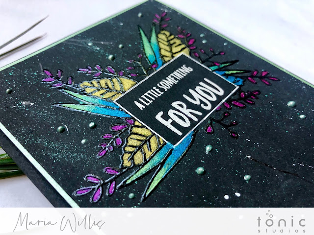 #cardbomb, #mariawillis, #tonicstudios, #tonicstudiosusa, #nuvo, #nuvoshimmerpowder, watercolor, #card, #cards, #stamp, #ink, #paper, #papercraft, #handmadecards, #diy, #greetingcards, #color, #technique, #video, #videotutorial,