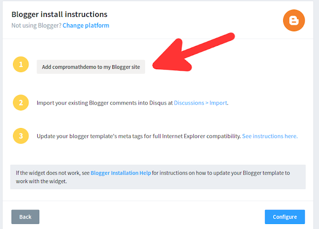 How to Install disqus in Blogger