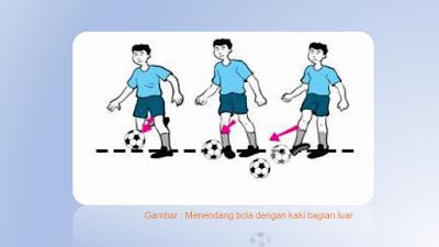 umpan bola dengan kaki bagian luar
