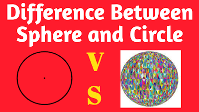 Difference between Sphere and Circle