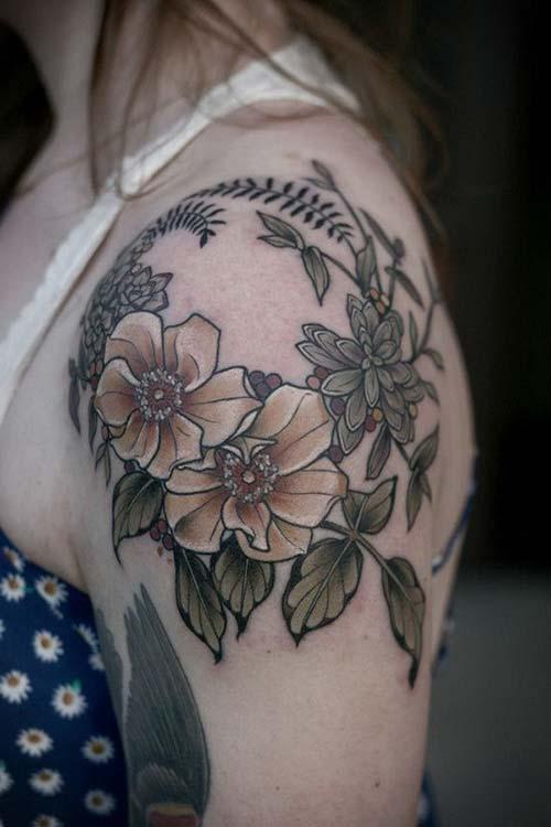 kadın omuz dövmeleri woman shoulder tattoos 15