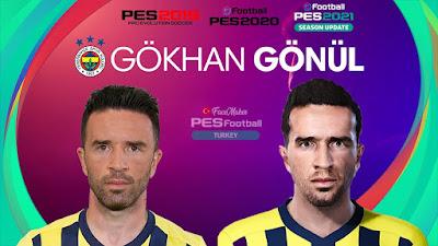 PES 2021 Faces Gökhan Gönül by PES Football Turkey