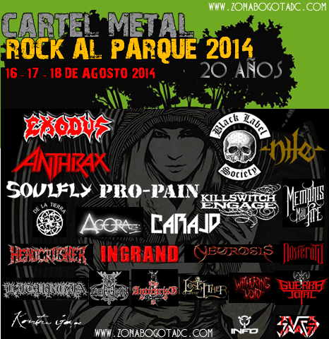 Cartel de Metal Rock al parque 2014