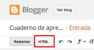 Editar HTML de una entrada