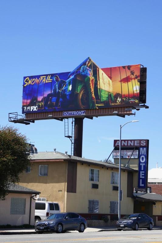 Snowfall season 2 cut-out billboard