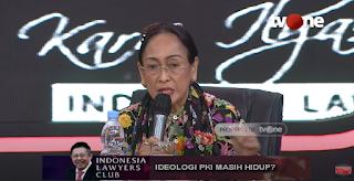 Di ILC TvOne, Sukmawati Mengaku Heran: Ideologi PKI Itu Pancasila, Kenapa Jadi Masalah?