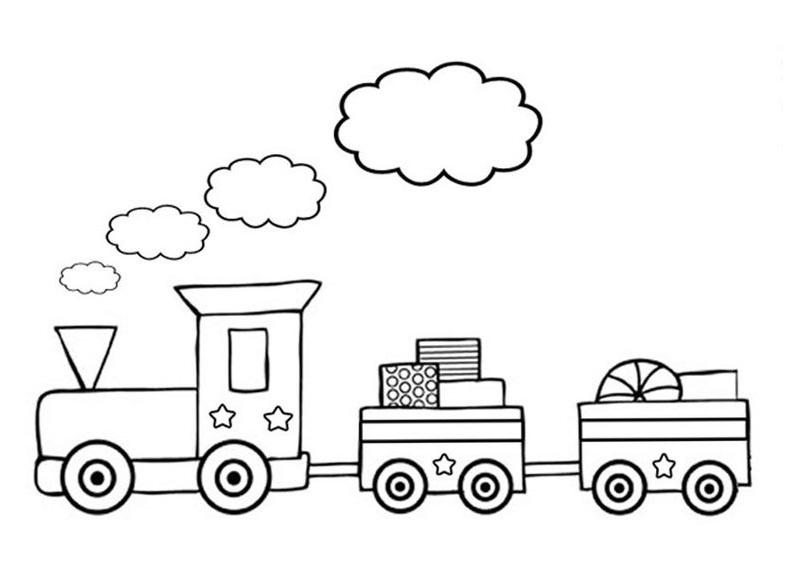 Hình tô màu đoàn tàu hỏa