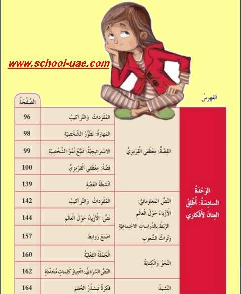 كتاب العربى للصف الرابع الفصل الثانى 2020 الامارات
