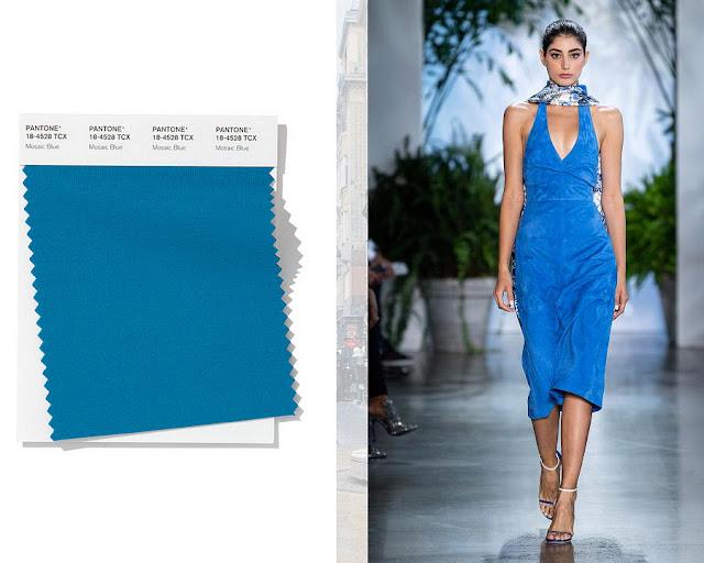 Синяя мозаика модные цвета весна-лето 2020 1