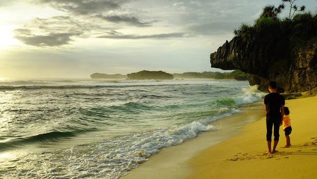 foto indahnya pantai indrayanti