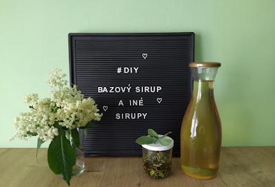 DIY: Bazový sirup a iné bylinkové sirupy