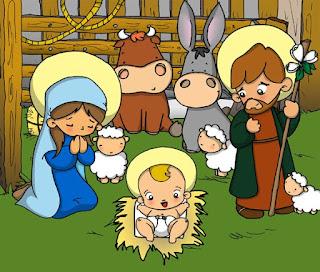 sketch les bergers devant la creche