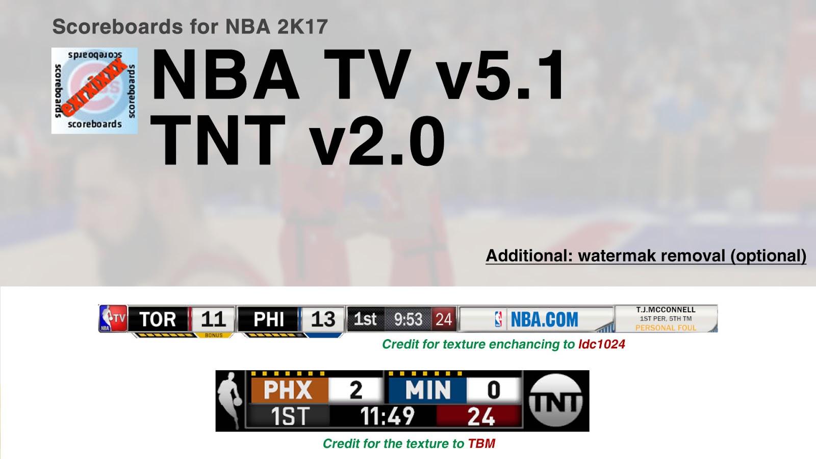 nba tv 5 1 tnt 2 0 scoreboards tnt update by exrxixxx. Black Bedroom Furniture Sets. Home Design Ideas