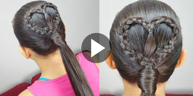 How To Create Quick And Easy Heart Ponytail Hairstyle