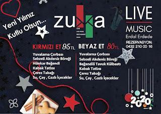 Zukka Cafe Van Yılbaşı Programı 2020 Menüsü