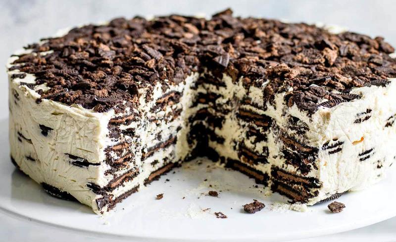 Oreo Baileys fridge cake