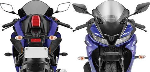 Yamaha YZF R15 V3 front & rear view image