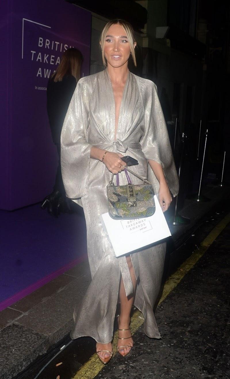 Megan McKenna Arrives at Takeaway Awards in London 27 Jan-2020