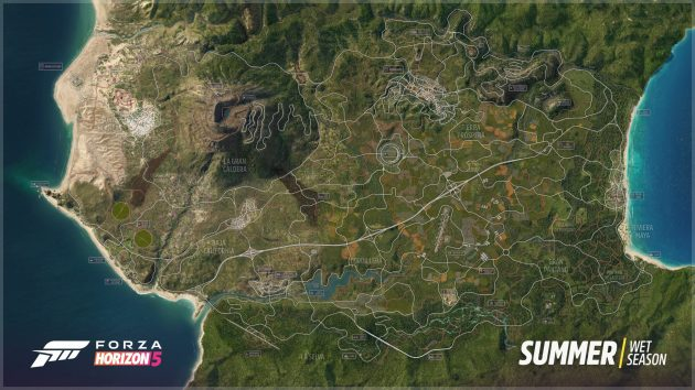 A map for Forza Horizon 5 has been revealed, here's what it looks like