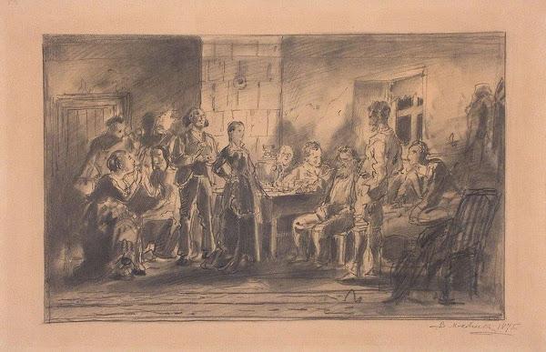 Маковский Владимир Егорович - Вечеринка. 1875