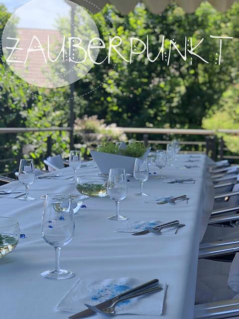 Tischdekorationsessential, Grundlagen der Tischdekoration, Schiffdekoration, Sommertisch, Wasserdeko, Geburtstagstafel, Tablesetting
