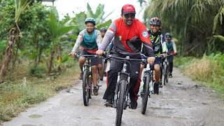 Wakil Bupati Batubara Goes Bareng Tujuh Club Sepeda