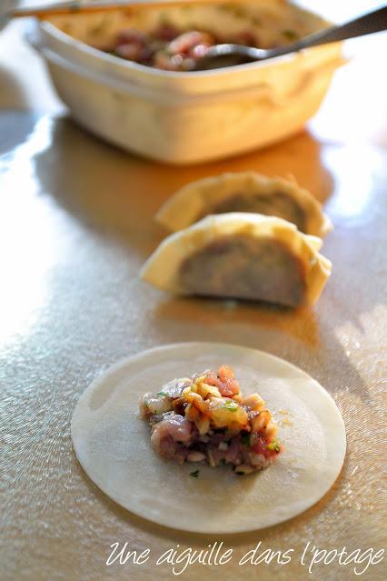 raviolis-porc-crevette-coriandre-cuisine asiatique
